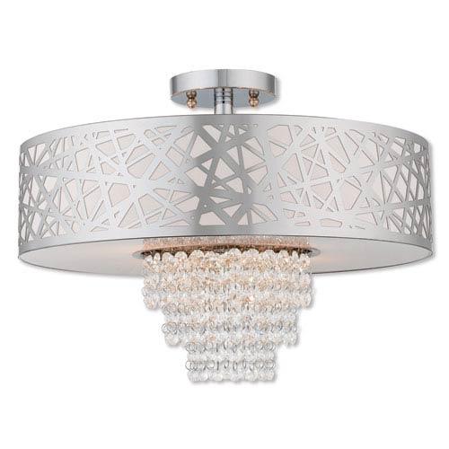 Livex Lighting Allendale Polished Chrome 18-Inch Four-Light Ceiling Mount