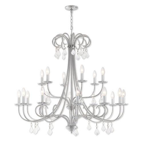 Livex Lighting Daphne Polished Chrome 42-Inch Eighteen-Light Foyer Chandelier