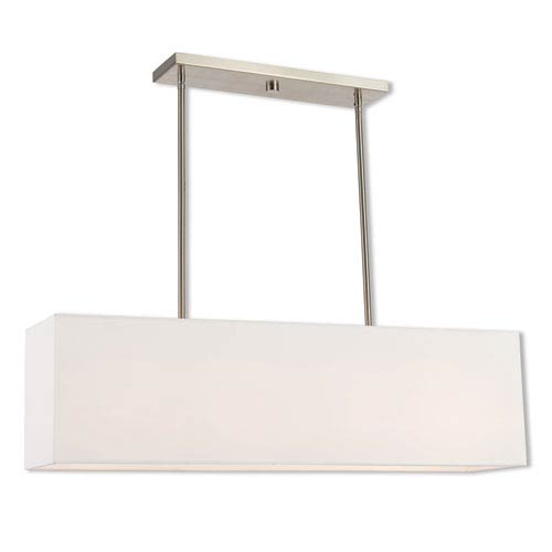 Summit Brushed Nickel Four-Light Linear Pendant