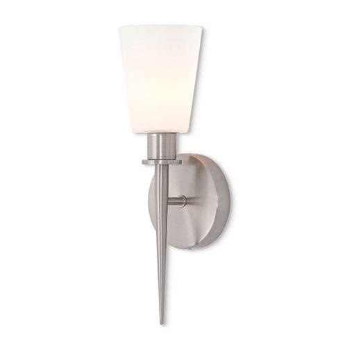 Livex Lighting Witten Brushed Nickel 15-Inch One-Light Wall Sconce