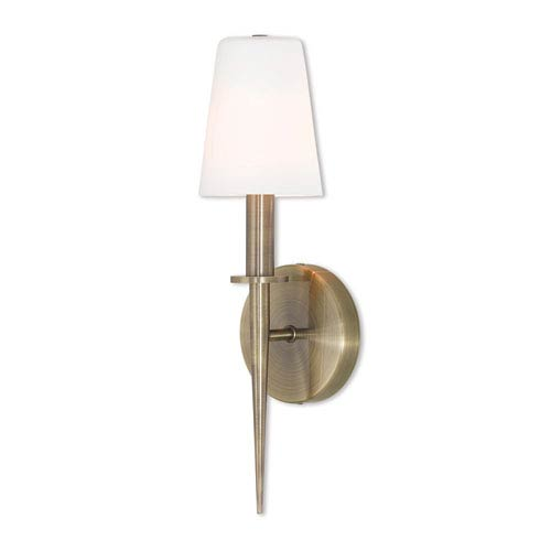 Witten Antique Brass 15-Inch One-Light Wall Sconce