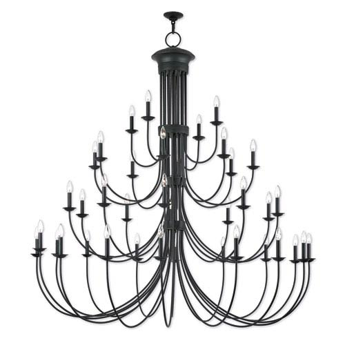 Estate Bronze 72-Inch Thirty-Eight Light Grand Foyer Chandelier