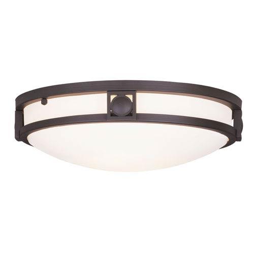 Livex Lighting Matrix Bronze Two-Light Semi Flush Mount