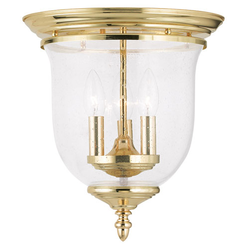 Legacy Polished Brass Three Light Ceiling Mount