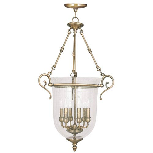 Livex Lighting Legacy Antique Brass Six Light Chain Hung Pendant