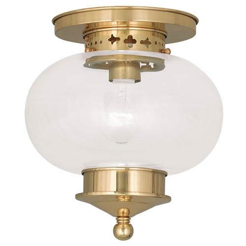 Livex Lighting Harbor Polished Brass One Light Ceiling Mount