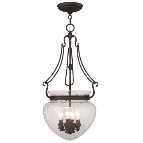 Livex Lighting Duchess Bronze Four Light Chain Hung Pendant
