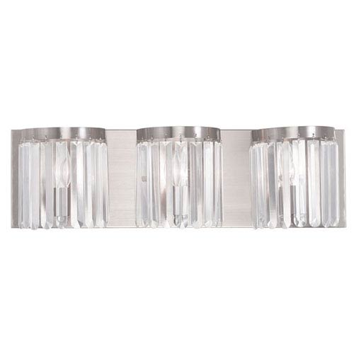 Ashton Brushed Nickel 23.5-Inch Three-Light Bath Light