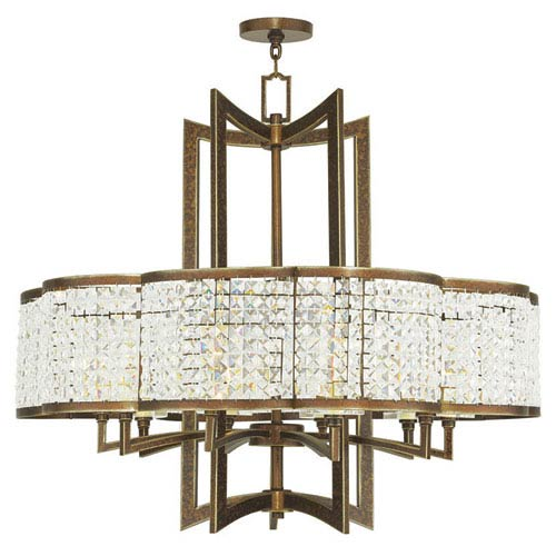 Grammercy Hand Painted Palacial Bronze 34-Inch Ten-Light Pendant
