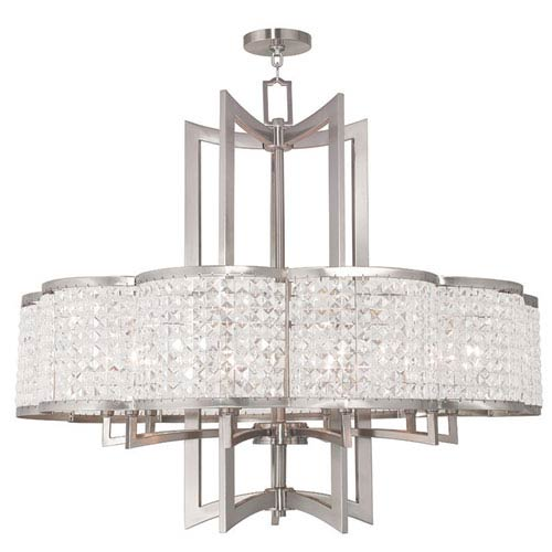 Grammercy Brushed Nickel 34-Inch Ten-Light Pendant