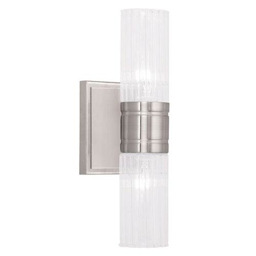 Midtown Brushed Nickel 11.5-Inch Two-Light Bath Light