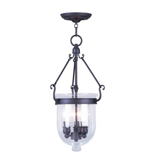 Livex Lighting Jefferson Bronze Three-Light Pendant
