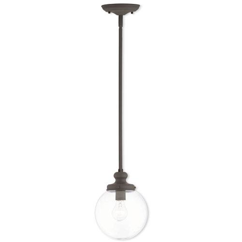 Sheffield Bronze 8-Inch One-Light Mini Pendant