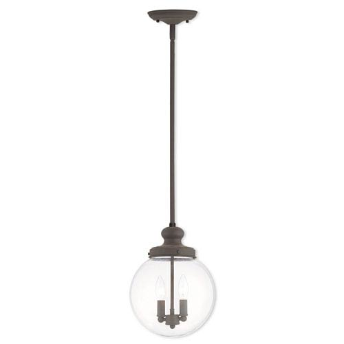 Sheffield Bronze 10-Inch Two-Light Globe Pendant