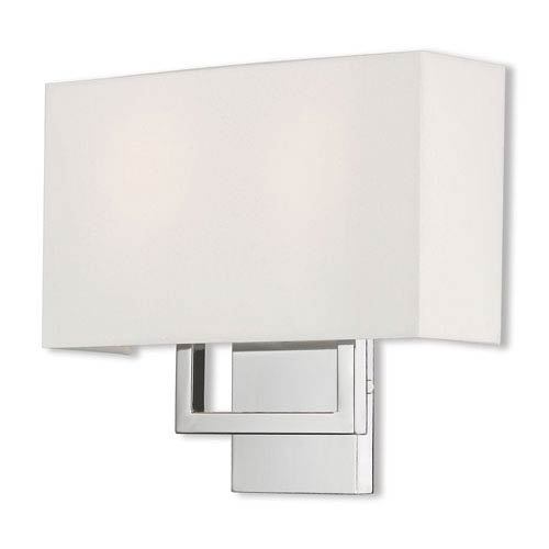 Pierson Polished Chrome 13-Inch Two-Light Wall Sconce