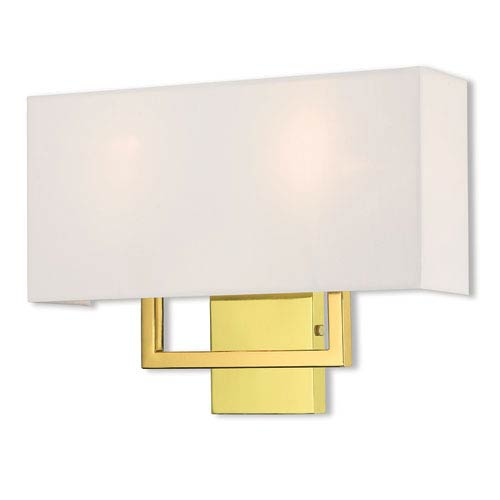 Pierson Polished Brass 16-Inch Two-Light Wall Sconce
