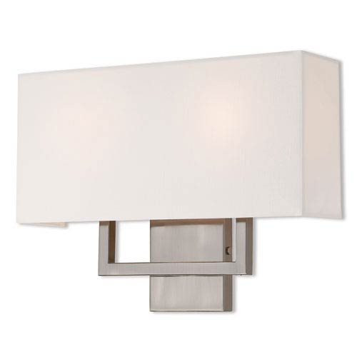 Pierson Brushed Nickel 16-Inch Two-Light Wall Sconce