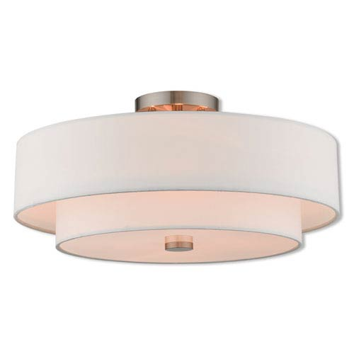 Claremont Brushed Nickel 18-Inch Four-Light Ceiling Mount