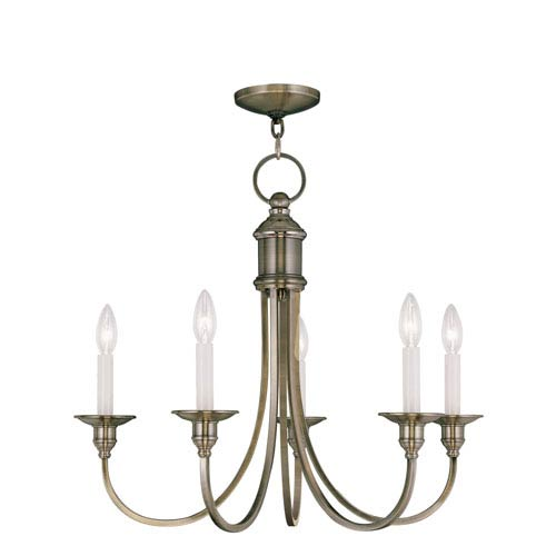 Livex Lighting Cranford Antique Brass Five Light Chandelier