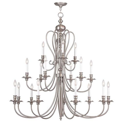 Livex Lighting Caldwell Brushed Nickel 18 Light Chandelier