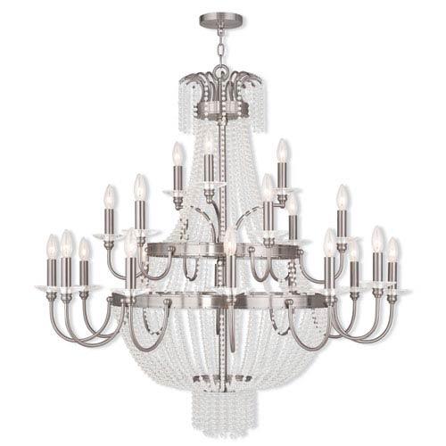 Livex Lighting Valentina Brushed Nickel 42-Inch 21-Light Foyer Chandelier