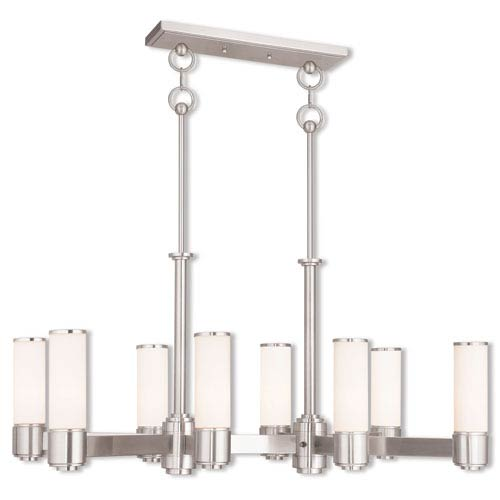 Weston Brushed Nickel Eight-Light 17.5-Inch Linear Chandelier