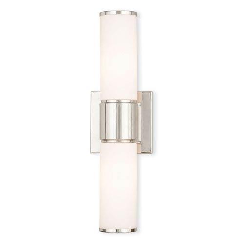 Weston Polished Nickel Two-Light 16.5-Inch Bath Vanity