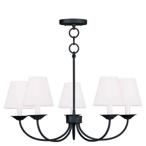 Livex Lighting Mendham Black Five Light Chandelier