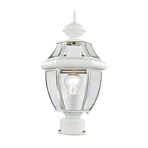 Monterey White One-Light Outdoor Post Light