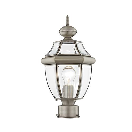 salt resistant outdoor lighting monterey brushed nickel onelight outdoor post light lighting free shipping bellacor