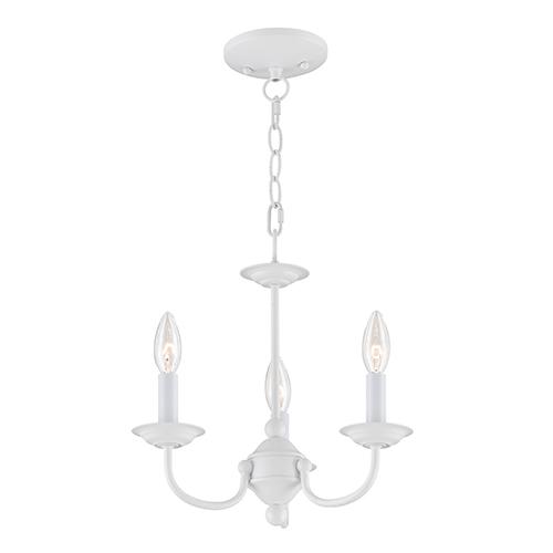 White mini chandeliers free shipping bellacor home basics white three light mini chandelier aloadofball Gallery