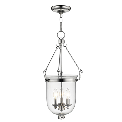 Jefferson Polished Nickel Three-Light Pendant