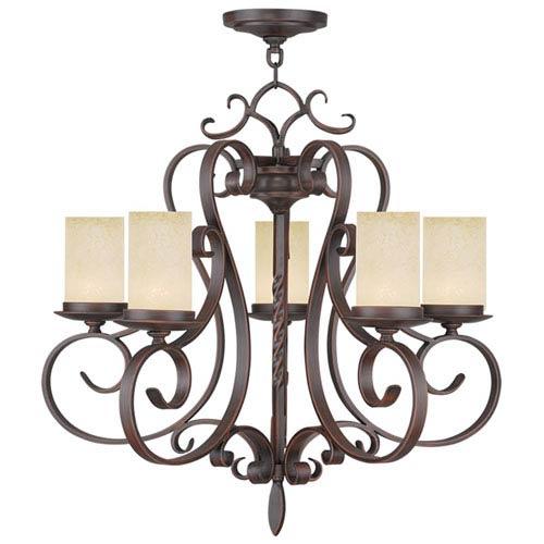 Livex Lighting Millburn Manor Imperial Bronze Five Light Chandelier