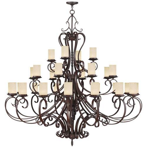 Livex Lighting Millburn Manor Imperial Bronze 28 Light Chandelier