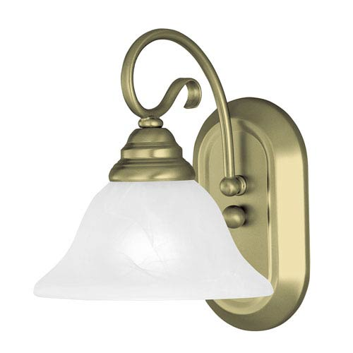 Livex Lighting Coronado Antique Brass One Light Bath Light