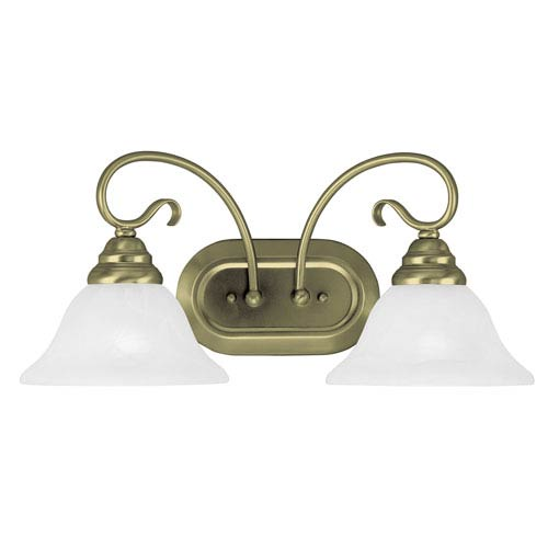 Livex Lighting Coronado Antique Brass Two Light Bath Light