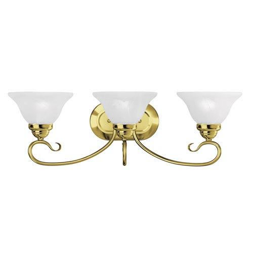 Coronado Polished Brass Three Light Bath Light