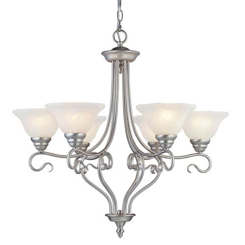 Coronado Nickel Six-Light Chandelier