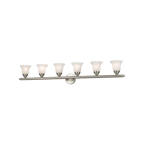 Livex Lighting Home Basics Brushed Nickel Six-Light Bath Fixture