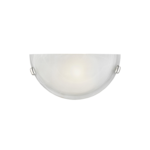 Home Basics Brushed Nickel One-Light Wall Sconce