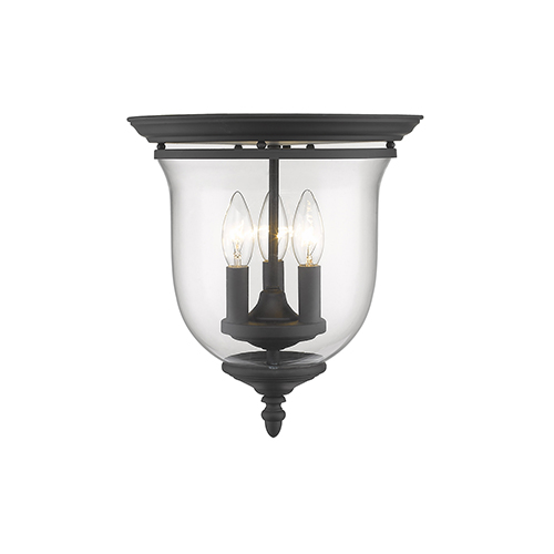 Legacy Black Three-Light Semi Flush Mount