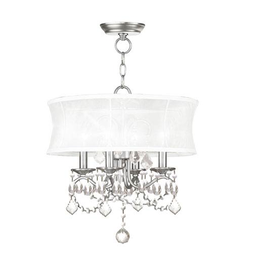 Livex Lighting Newcastle Brushed Nickel Four-Light Convertible Semi-Flush