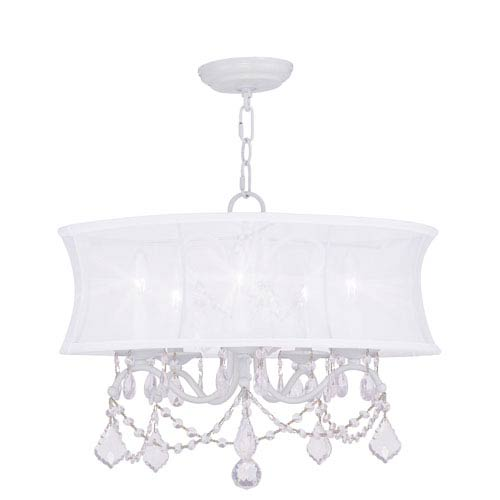 Livex Lighting Newcastle White Five-Light Chandelier