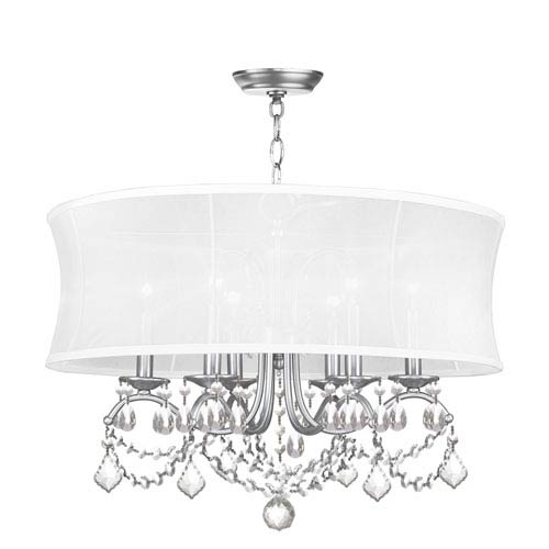 Newcastle Brushed Nickel Six-Light Pendant