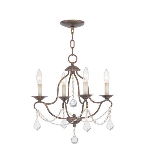 Livex Lighting Chesterfield Venetian Golden Bronze Four-Light Chandelier
