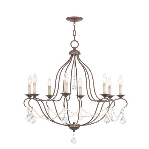 Livex Lighting Chesterfield Venetian Golden Bronze Eight-Light Chandelier