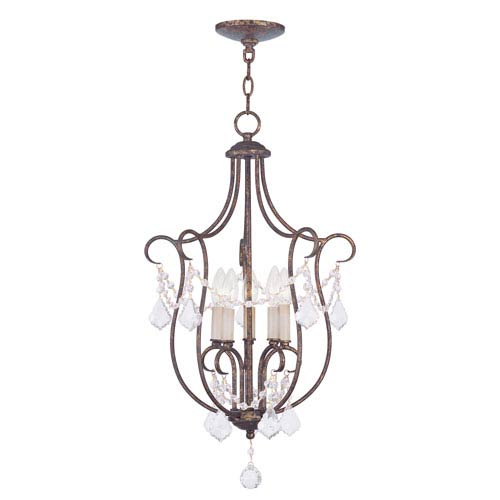 Livex Lighting Chesterfield Venetian Golden Bronze Five Light 28-Inch Foyer