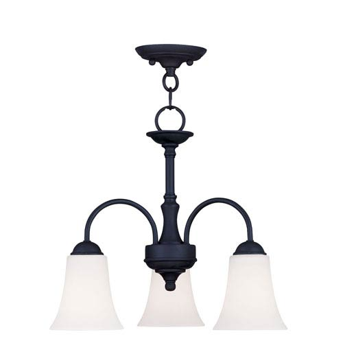 Ridgedale Black Three-Light Convertible Chain Hang/Ceiling Mount
