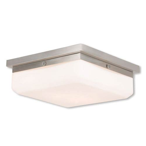 Allure Brushed Nickel Three-Light 11-Inch Flush Mount