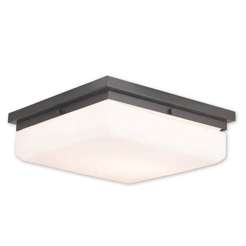 Allure English Bronze Four-Light 13-Inch Flush Mount